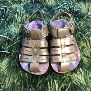 Skechers Gold sandals girls size 6